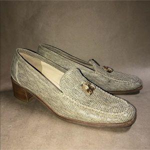 STUART WEITZMAN Size 9 B Leather Loafers SPAIN N3
